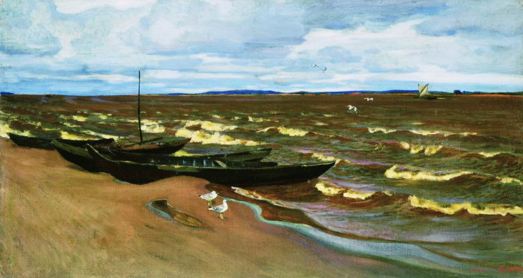 Arkady Alexandrovich Rylov. A stormy day on the Kama river