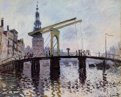 Claude Monet. The Bridge, Amsterdam