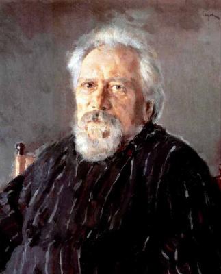 Valentin Aleksandrovich Serov. Portrait of writer N. S. Leskov