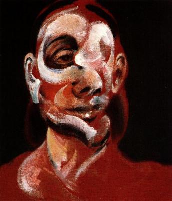 Francis Bacon. Three studies of Muriel Belcher (fragment)