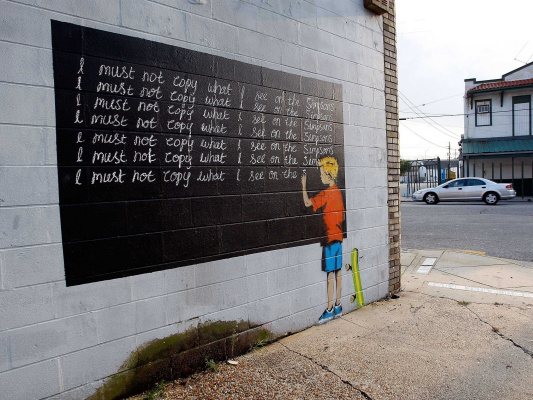 """Banksy. I do not have to copy everything I see in """"The Simpsons"""""""