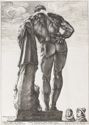 Геркулес Фарнезе. Около 1592  резцовая гравюра