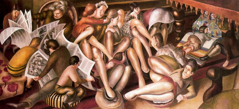Stanley Spencer. Fascinating newspapers