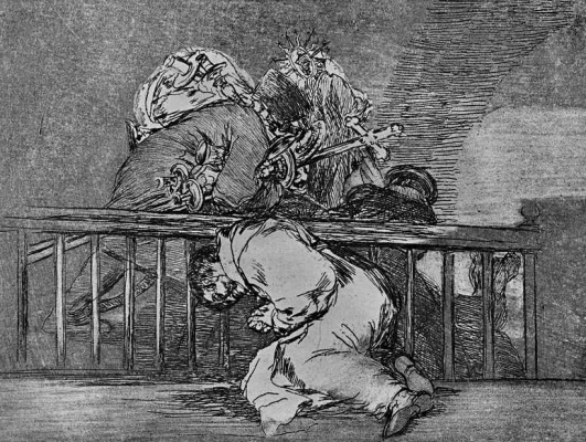 """Francisco Goya. The series """"disasters of war"""", page 47: So it is"""