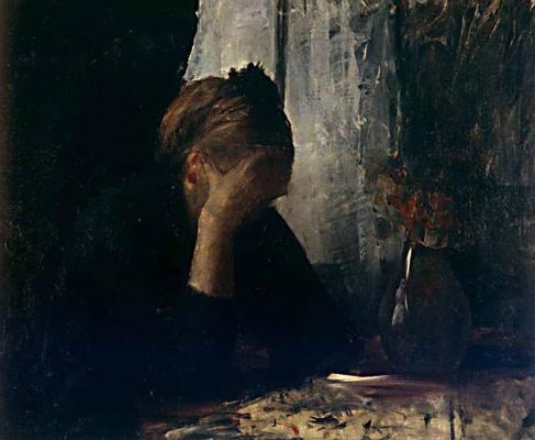 Мария Константиновна Башкирцева. At the table