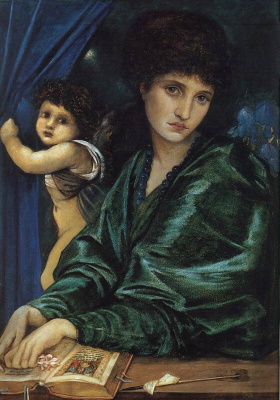 Edward Coley Burne-Jones. Portrait of Maria Zambako
