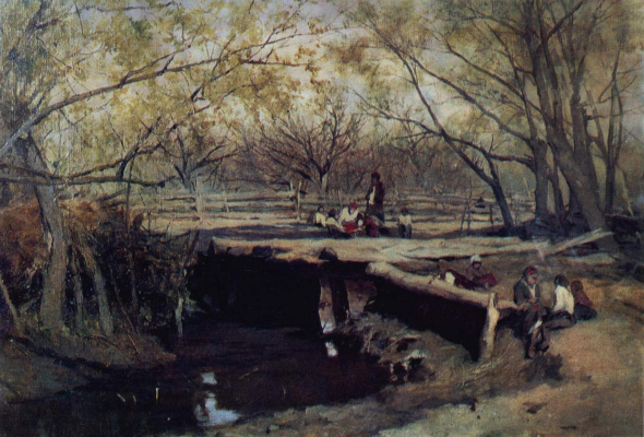Sergey Ivanovich Svetoslavsky. Spring. Bridge. 1890s