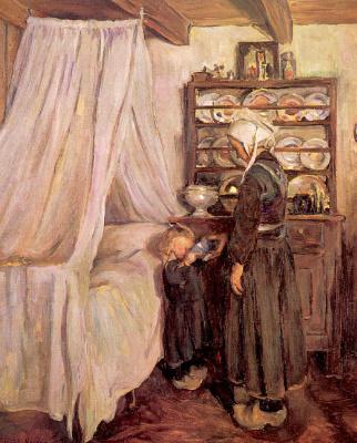 Элизабет Норс. Мать и маленькая девочка