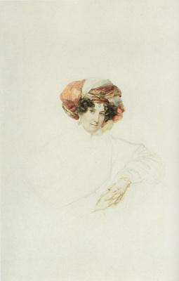 Karl Pavlovich Bryullov. Portrait of an unknown woman in a turban