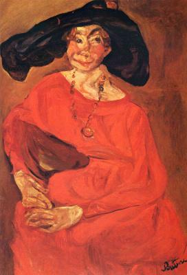 Haim Solomonovich Soutine. The woman in red