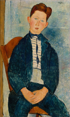 Амедео Модильяни. Мальчик в полосатом свитере