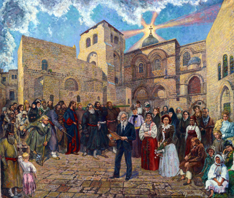 Victor Brindatch. Repin your SIM is near the Church of the Holy sepulchre Jerusalem