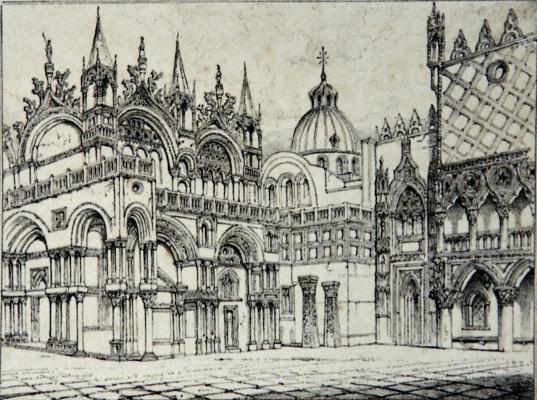 John Ruskin. Piazzetta and San Marco, Venice