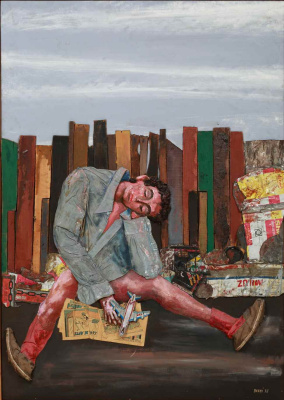 Antonio Berni. Juanito asleep - From the series Juanito Laguna