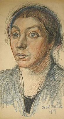 David Davidovich Burliuk. Portrait of the artist's wife