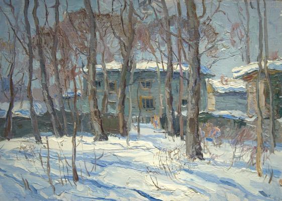 Boris Petrovich Zakharov. The sun of the old Sokolniki. Etude.