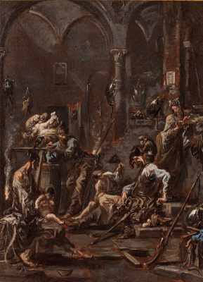 Alessandro Magnasco. Soldiers and beggars