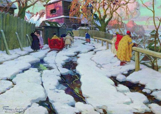 Ivan Goryushkin-Sorokopudov. A scene from the XVII century. 1934