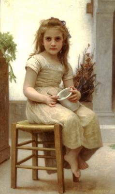 Адольф Вильям Бугро. Девочка на стуле