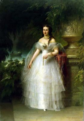 Friedrich August von Kaulbach. Portrait of Grand Duchess Alexandra Iosifovna