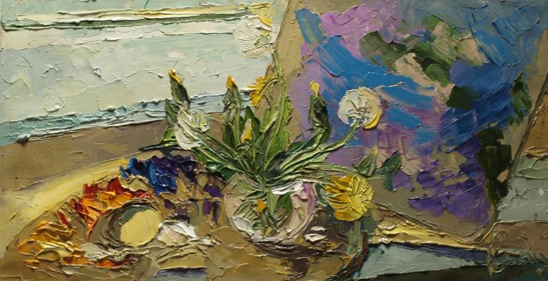 Katerina Sergeevna Troshkova (Smirnova). Dandelions on the palette