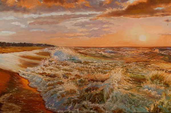 Evgeny Vladimirovich Terentyev. Sunset over the sea