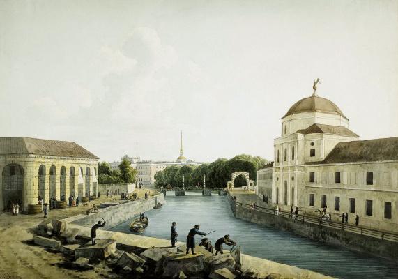 Андрей Ефимович Мартынов. Вид реки
