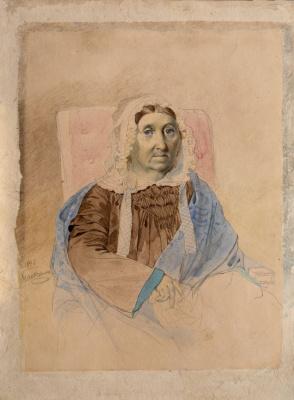Taras Grigorievich Shevchenko. Portrait Of Maria Feodorovna Katerynych