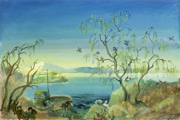 Oscar Laske. Bird island