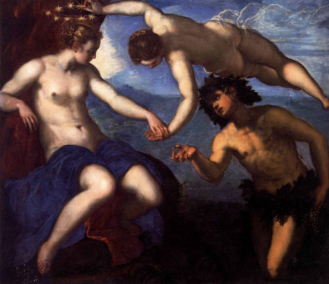 Jacopo Tintoretto. Bacchus, Venus and Ariadne