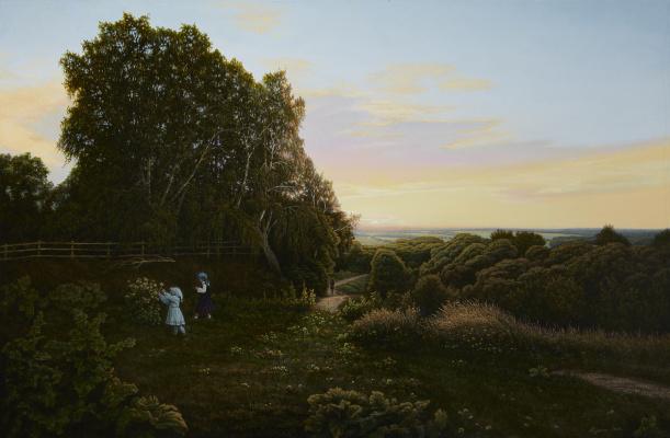 Alexander Mikhailovich Sushenok. On the Sunset. Polenovo. 2019.