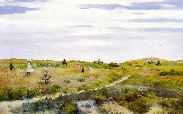 William Merritt Chase. The trail on Shinnecock