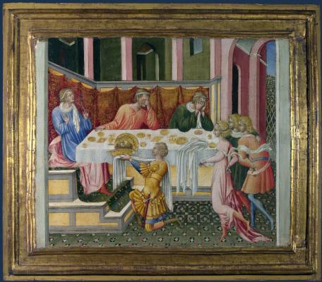 Джованни ди Паоло. Голову Иоанна Крестителя принесли Ироду