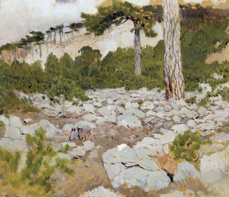 Isaac Levitan. Crimea. In the mountains