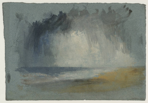 Joseph Mallord William Turner. Grey clouds over the sea