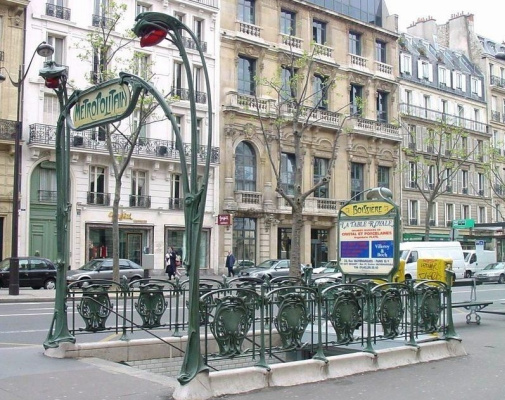 "Hector Guimard. Entrance to the subway ""Boissier"", Paris"