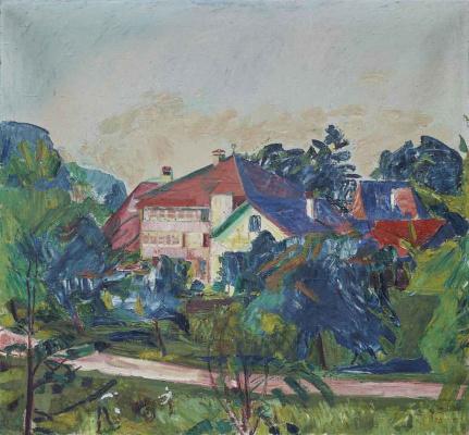 Cuno Amiè. Landscape with houses