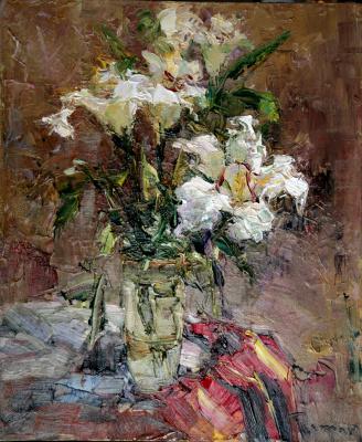 Tuman Art Gallery Tumana Zhumabayeva. Summer flowers