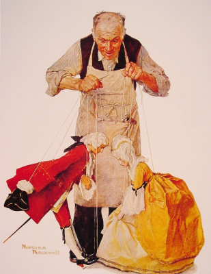 Norman Rockwell. Puppeteer