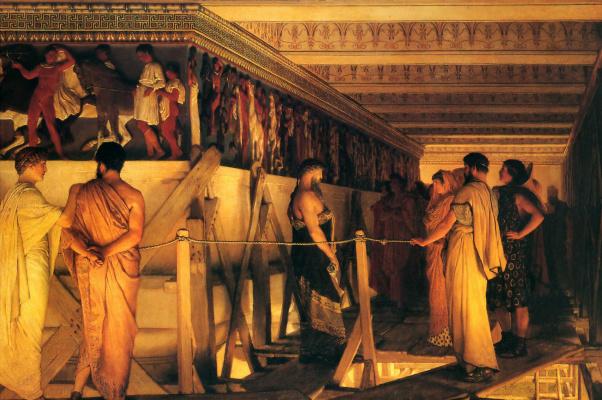 Лоуренс Альма-Тадема. Фидий показывает фриз Парфенона своим друзьям