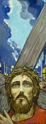 Ilya Sergeevich Glazunov. The carrying of the cross.