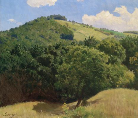 Pál Szinyei Merse. Hilly landscape