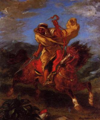 Эжен Делакруа. Арабский воин верхом на лошади
