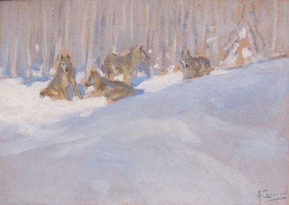 Alexey Stepanovich Stepanov. Wolves