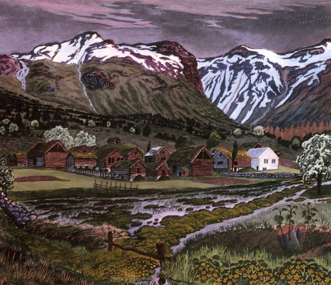 Nikolay Astrup. Mountain landscape