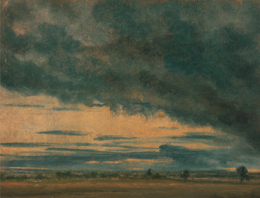 John Constable. Clouds over the plain. Etude
