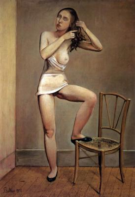 Balthus (Balthasar Klossovsky de Rola). Alice in the mirror