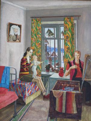 Eugene Alexandrovich Kazantsev. Artist's family