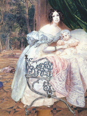 Karl Pavlovich Bryullov. Portrait of M. I. Bucaneve daughter