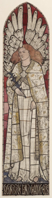 William Morris. The Archangel Gabriel. The project for the stained glass window